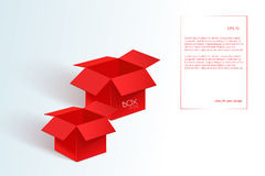 Two big red box Royalty Free Stock Images