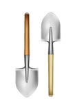 Two big shovels Stock Image
