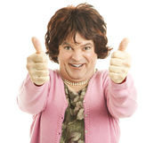 Two Big Thumps Up Stock Photos