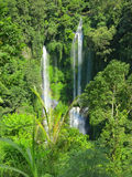 Two big waterfalls with rainbow, Bali, Indonesia Stock Images