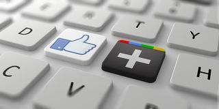Two biggest social networks Stock Image