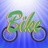 Two Bike Wheels Royalty Free Stock Photos