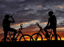 Two bikers Stock Images