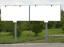 Two billboards Stock Photos