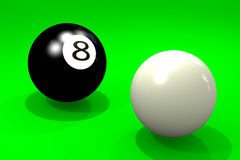Two billiard balls Royalty Free Stock Photography