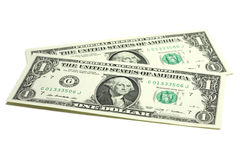 Two bills into one US dollar Royalty Free Stock Images