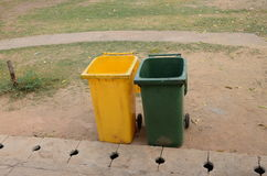 Two bins Royalty Free Stock Image