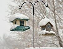Two bird feeders Royalty Free Stock Photo