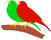 Two birds Royalty Free Stock Images
