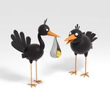 Two birds and egg Royalty Free Stock Images