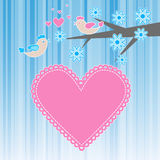 Two birds in love Royalty Free Stock Photo