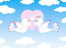 Two birds in love Royalty Free Stock Photography