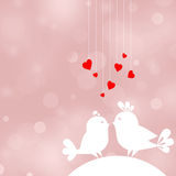 Two birds in love Stock Images