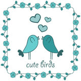 Two birds in love Stock Image