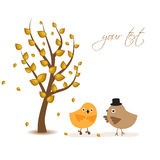 Two birds on the love date Royalty Free Stock Photo