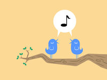 Two Birds Singing Royalty Free Stock Photo