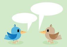 Two birds talking Stock Photo