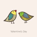 Two birds in vector. Two birds in. This is file of EPS10 format royalty free illustration