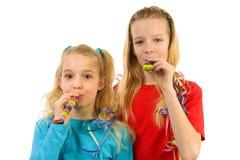 Two Birthday girls Royalty Free Stock Photos