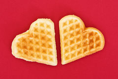 Two biscuit hearts Royalty Free Stock Photography