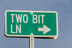 Two Bit Ln Sign Royalty Free Stock Image