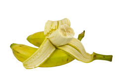 Two Bite Banana Royalty Free Stock Image