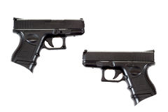 Two Black airsoft guns Stock Images