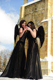 Two black angels Royalty Free Stock Photos