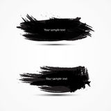 Two black banners with place for text Vector brush vector illustration