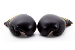 Two black boxing gloves Stock Photo