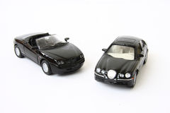 Two black cars Royalty Free Stock Photos