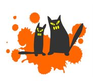 Free Two Black Cats Stock Images - 3323454