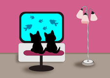 Two black Cats Stock Photography