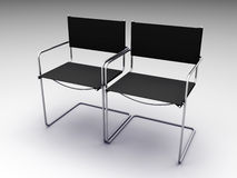 Two black chairs Stock Photography