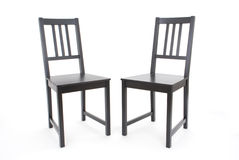 Two black chairs Royalty Free Stock Photography
