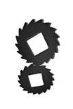 Black cogwheels Stock Photos