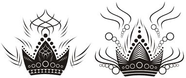 two black crowns Royalty Free Stock Images