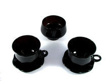 Two black cups Royalty Free Stock Images