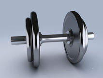 Two black dumbbells for fitness Stock Photography