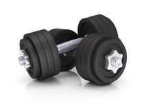 Two black dumbells Royalty Free Stock Photography