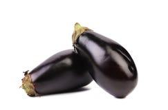 Two black eggplants. Royalty Free Stock Image