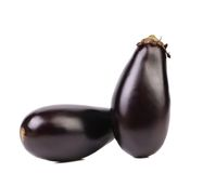 Two black eggplants. Stock Photos