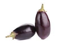 Two black eggplants. Stock Photo