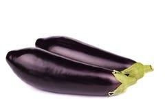 Two black eggplants isolated on white. Background Stock Image