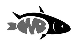 Two black fish Stock Photo