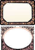 Two black floral frames Stock Photography