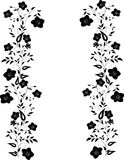 Two black flower strips decoration Stock Photography