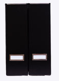 Two black folders - Ring Binders Stock Image