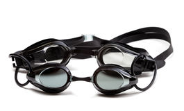 Two black goggles for swimming Stock Images