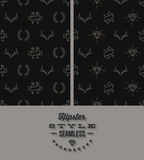 Two black hipster seamless background Stock Image